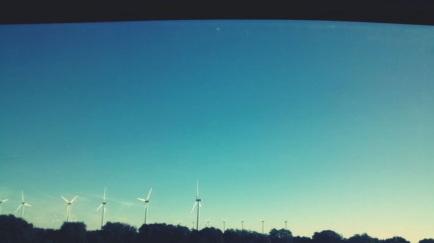 Wind Energy Beautiful Sky On The Road Popular Photo