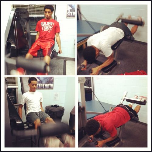 Me & My Brother Working Out!