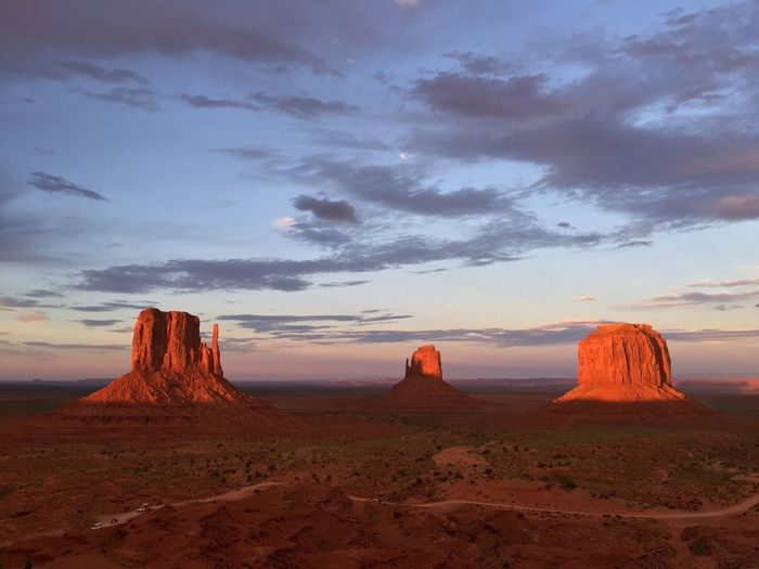 Monument Valley Landscape Rock Rock Formation Travel Destinations Travel Photography Pathway Tourism Sky Nature Nopeople Trip USAtrip USA Utah Travel View No People Relaxing Touristic Destination Monument Colors Good Morning Sunrise