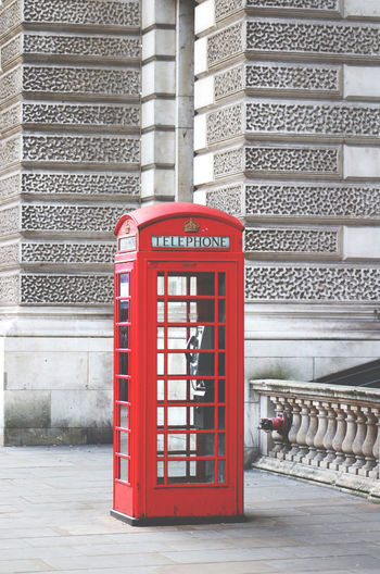 Architecture Built Structure City Communication Connection Convenience Cultures Day London London United Kingdom No People Outdoors Pay Phone Red Telephone Telephone Booth Travel Destinations