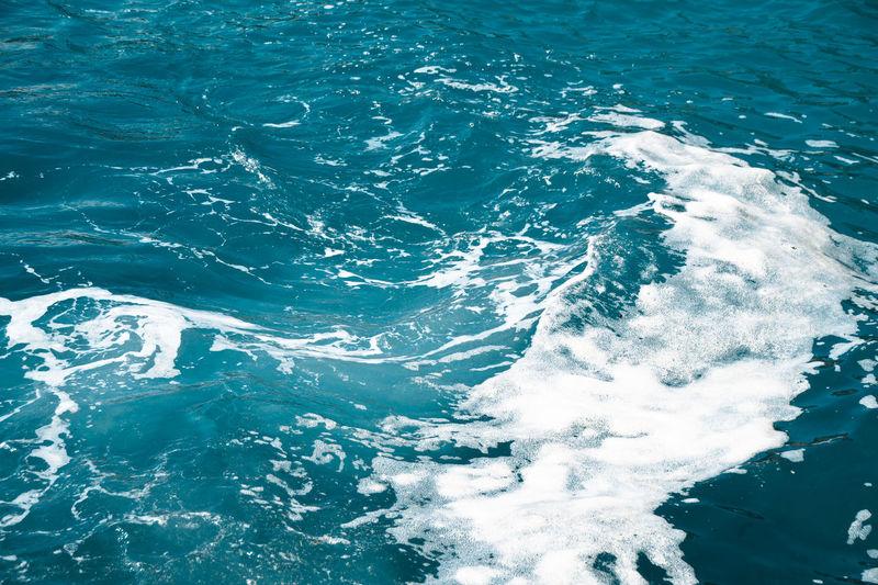 Full frame shot of foamy sea