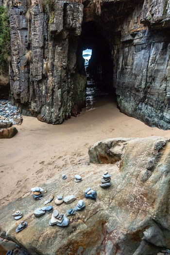 Remarkable Cave Blowhole Of Tasmania Tourist Attraction  Beach Beauty In Nature Blowholes Cave Day Flowing Water Holiday In Tasmania Land Nature No People Non-urban Scene Outdoors Port Arthurt Historic Site Rock Rock - Object Rock Formation Sand Sea Solid Tranquil Scene Tranquility Travel Destinations Water