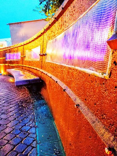 Outdoors Water_collection Beatiful View Enjoyment Walking Around Taking Pictures Way Out West Arizona Desert Gilbert Az Nightphotography Water Reflections Water Fountain Leisure Activity Nightscape Night Walk Around The TownIs What I Need.  Relaxing Taking Photos Woman Power