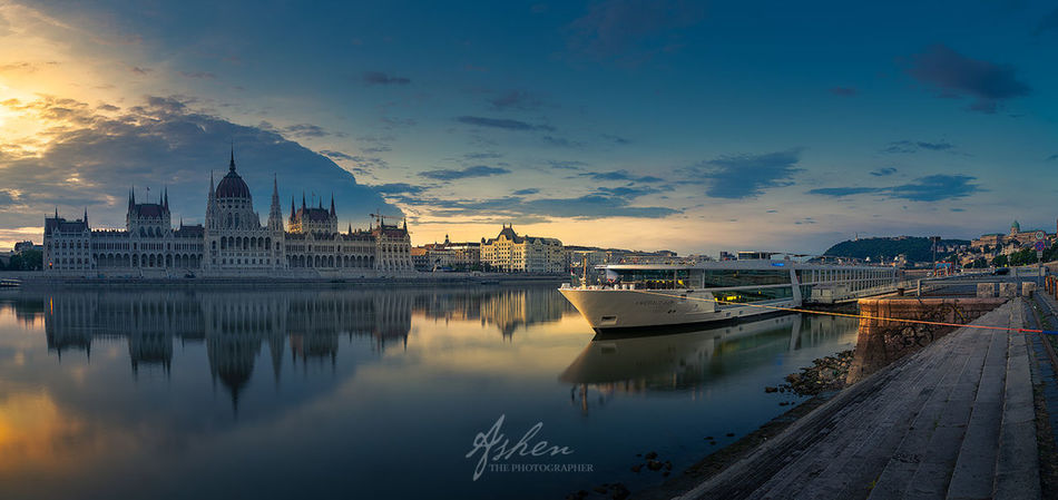 The Parliament and the ship City City Life Cityscape Cloud Danube EyeEm EyeEm Best Shots EyeEm Nature Lover EyeEm Selects EyeEm Gallery EyeEmNewHere Hungary Nature Nature Photography Reflection Sky And Clouds Cloud - Sky Clouds Clouds And Sky Nature_collection River Ship Sky Sunrise Water