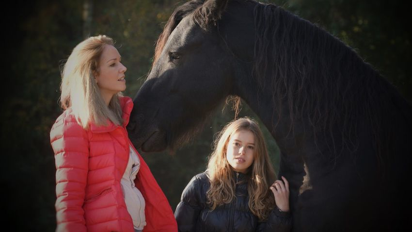 Dreaming Dreams Horse Horses Girls Beautiful Girl Mother Child Nice Day Sony A7 Holland Veluwe Romantic Colourful Love♥ Lovely In The Forest Animal Photography Animal Love Animal Themes Dream Enjoying Life Peace And Quiet Looking To The Other Side From Where I Stand