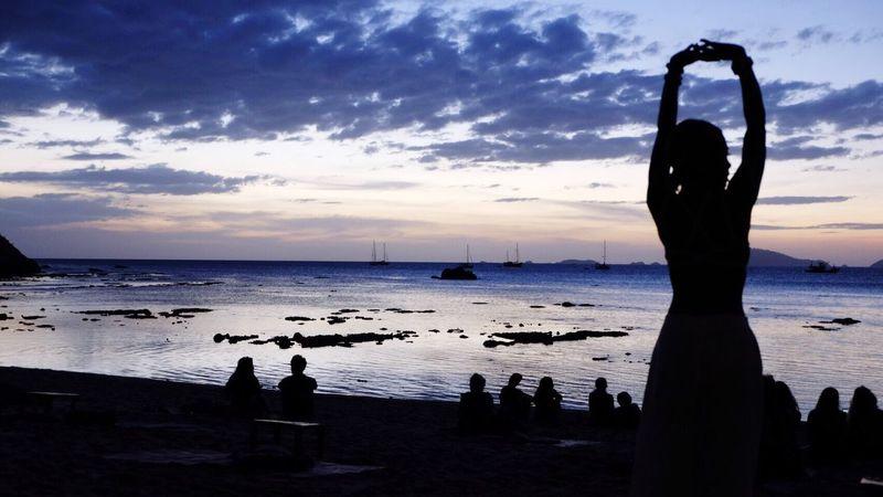 Myself portraits Sunset Sillouette Coolbreeze
