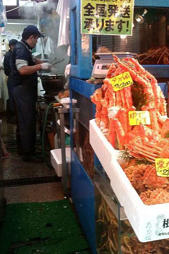 Crabs Tsukiji Tsukiji Fish Market Seafood Japan Tokyoautumn2016