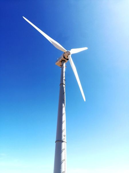 EyeEm Selects Wind Power Alternative Energy Wind Turbine Renewable Energy Technology Blue Wind Day Nature Sky Clear Sky Science No People Power In Nature Windmill Turbine Turbina Eolica Caldarola Montagne Vento Cielo Celeste Energie Rinnovabili