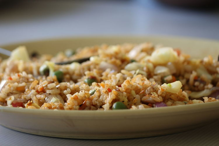 Close-up of rice food in plate