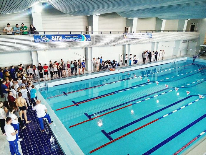 Hallo World Taking Photos Swimming Pool Swimming Competition University Swimmers Sport Sport Time Water Day 1 Happy Day People Blue Water Blue I'm Happy Belarus Minsk