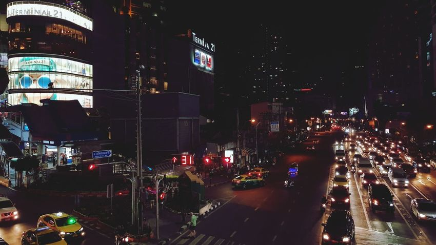 Mobility In Mega Cities Night Illuminated City City Life City Street Outdoors Nightlife