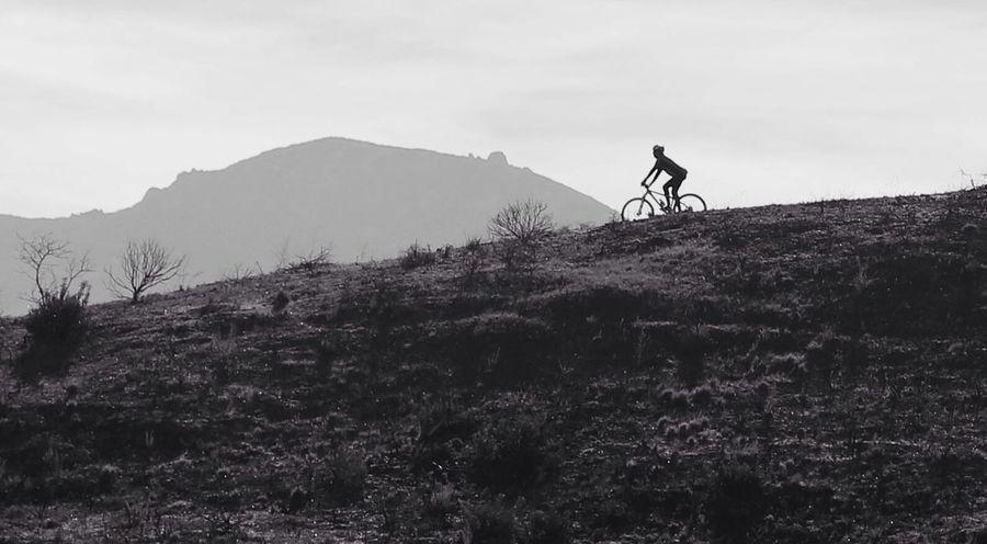 Lonely rider! Mountain Biking Santa Monica Mountains Black And White Mountains Sports