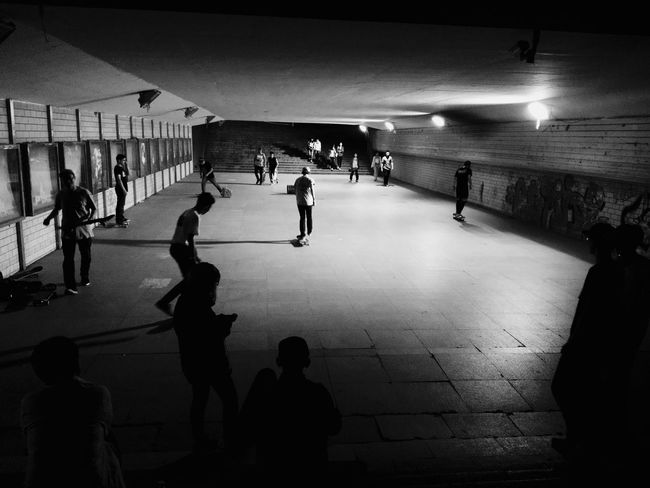 Skateboarding Underground Blackandwhite Shades Of Grey Light And Shadow