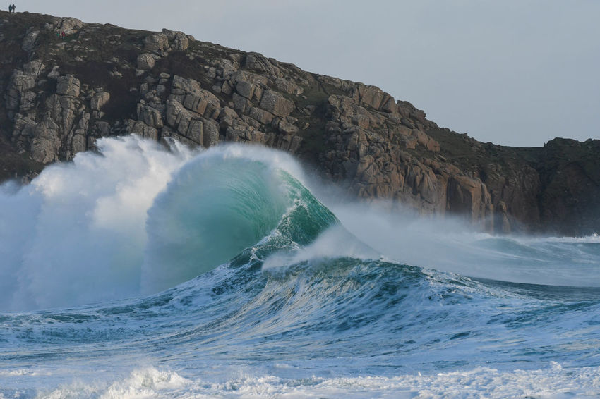 Atlantic Cornwall Tourism Cornwall, UK. Nature Porthcurno Beach Sea Spray Surf Beauty In Nature Breakers Coast Day Motion Nature No People Outdoors Porthcurno, Power In Nature Rocks And Water Sea Seascape Water Waves Crashing Waves Rolling In Waves, Ocean, Nature