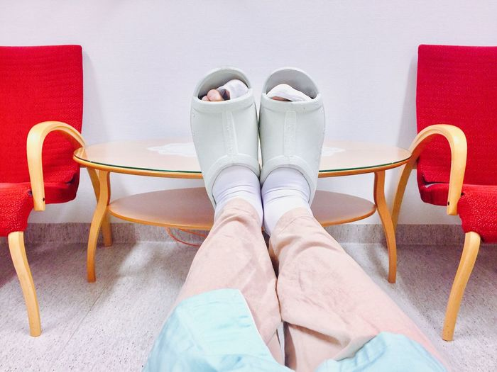 Shoe Low Section Human Leg Indoors  High Angle View Human Body Part Pair Fashion One Person Standing Women Day Close-up People Men Hospital Sikness
