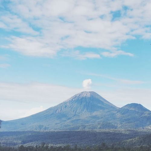 Semeru mountain Mountain Snow Volcanic Landscape Cultures Volcano Sky Landscape Cloud - Sky Active Volcano East Java Province Emitting Air Pollution Chimney Cooling Tower Smoke Erupting