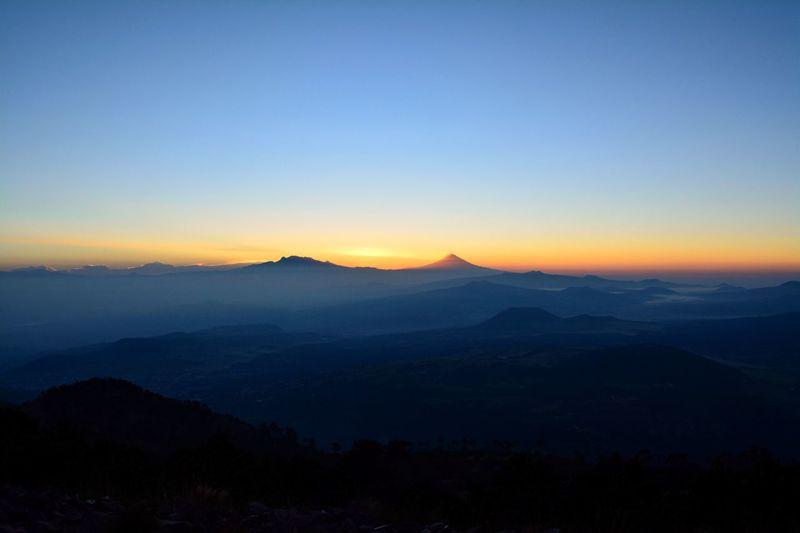 Ajusco CDMX. Landscape Mexico City Montains    Outdoors Popocatepetl E Iztaccihuatl Sky Sunrise