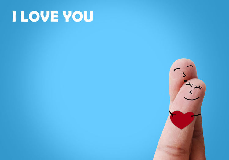 Finger Love Happiness Love Romantic Sweet Dreams Valentine Valentine's Day  Adult Anthropomorphic Smiley Face Communication Creativity Cute Day Drawing - Activity Fingers Human Body Part Human Hand Lovely One Person People Studio Shot