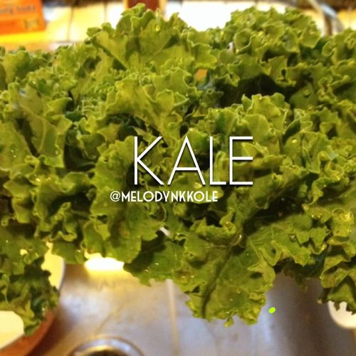 Kale is so much better than regular lettuce for a salad Kale Healthy Food Salad