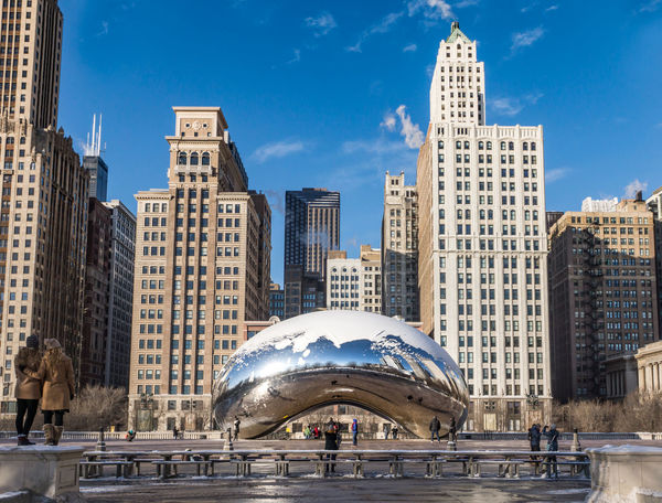 Chicago in a bean Chicago Tourist Attraction  USA Architecture Bean Building Exterior Built Structure City Cloud Gate Day Modern No People Outdoors Sky Skyscraper Water