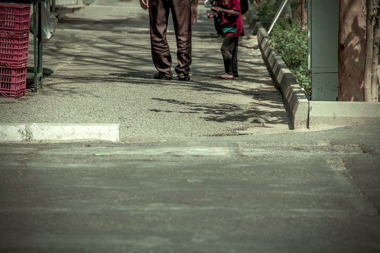 Kid and man