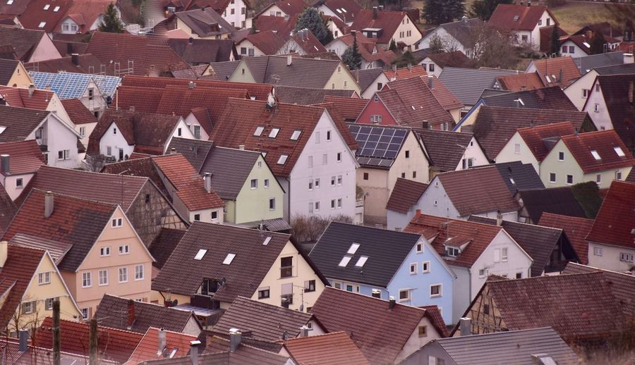 roof landscape Roof Building Exterior Architecture Building Built Structure Residential District House City High Angle View Crowd Town Crowded Community Day Full Frame Roof Tile Outdoors Human Settlement Backgrounds TOWNSCAPE Row House