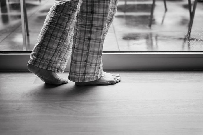 Barefoot feet on wooden floor Adult Close-up Comfortable COMFORTZONE Day Home Human Body Part Human Leg Indoors  Low Section One Person Pajamas People Pijama Pijamaday Pijamatime Piyama Rainy Days Real People Shelter Standing Waiting Women Wooden Floor Wooden Flooring