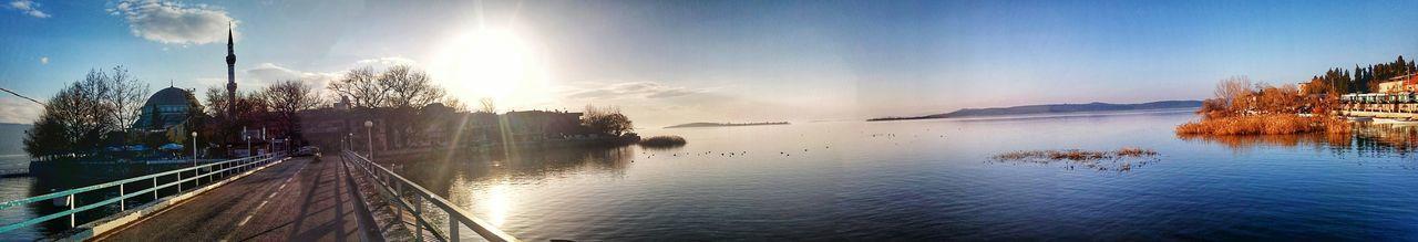 Reflection Sky Nature Water Lake Sunset Beauty In Nature Turkey GÖLYAZI Island