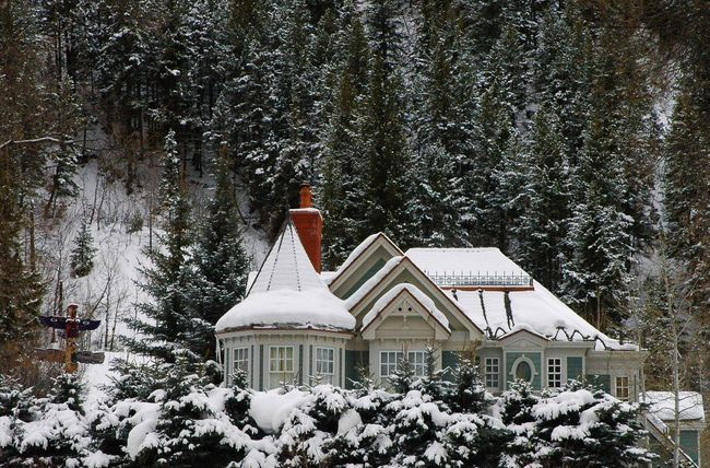 Aspen Dream Home Aspen Aspen, Colorado House Snow Totem Pole Winter Winter Home Winter Scene