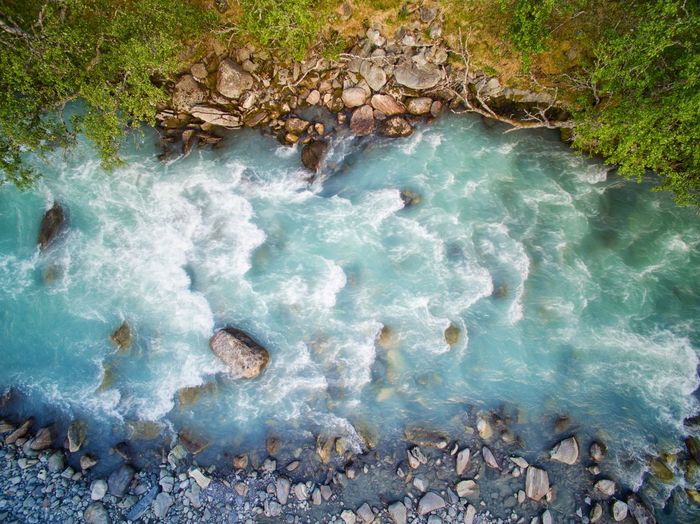 River rock Aerial Photography Aerial Landscape River Stream Water Nature Dronephotography Norway Norway Nature Water High Angle View Tree Turquoise Rushing Waterfront Rippled Stone Flowing Water Tranquil Scene Stream - Flowing Water Rock