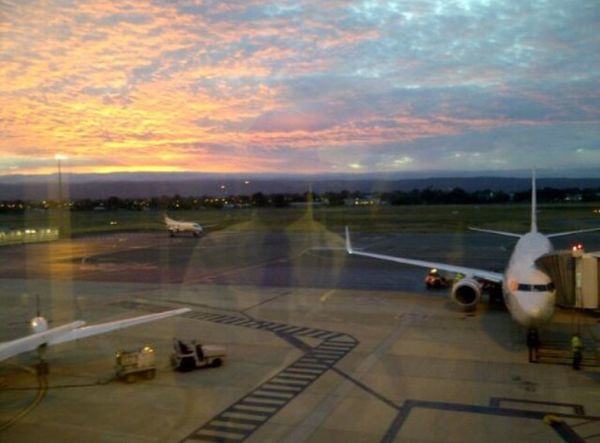 Sun Rise Airport Plane Ghost Early Morning an old photo of me at work a few years ago Nofilter