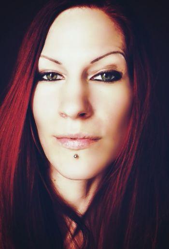 Faces Of EyeEm Today's Hot Look Gendacore Model Redhead Self Portrait Goddess Of Goddesses Green Eyes Piercing The Portraitist - 2015 EyeEm Awards