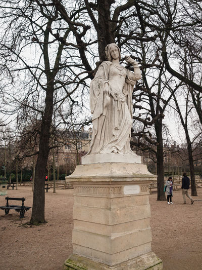 View of statue against trees