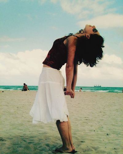 Winter in Miami Yoga In Nature Yoga On The Beach Yoga Sea Beach Water Sky Horizon Over Water Outdoors Miami Miami Beach Florida Streching Sand Real People One Person Cloud - Sky Nature Lifestyles