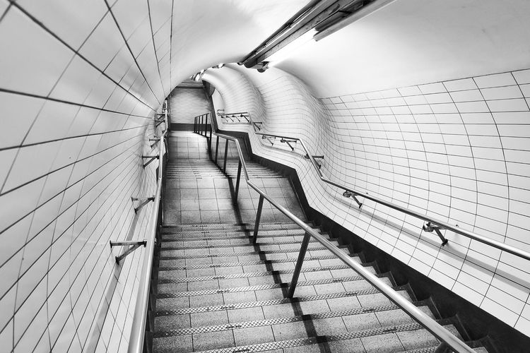 Staircase of subway station