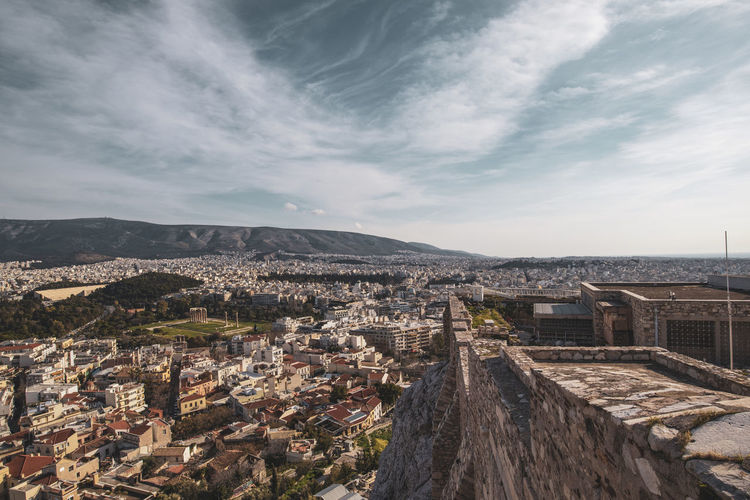 Acropolis Athens Greece Athens, Greece Acropolis Architecture Built Structure Building Exterior Sky City Cloud - Sky Cityscape Building Residential District Nature Crowded High Angle View Day Mountain Outdoors Community House Mountain Range TOWNSCAPE