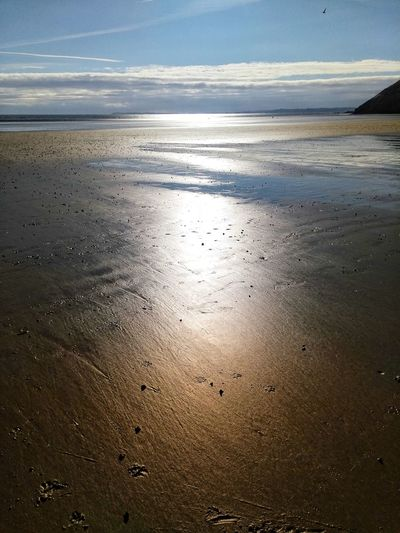 Beach Nature Sea Beauty In Nature Scenics Tranquility Sunset No People Sky Outdoors Water Horizon Over Water Sunlight Sand Day