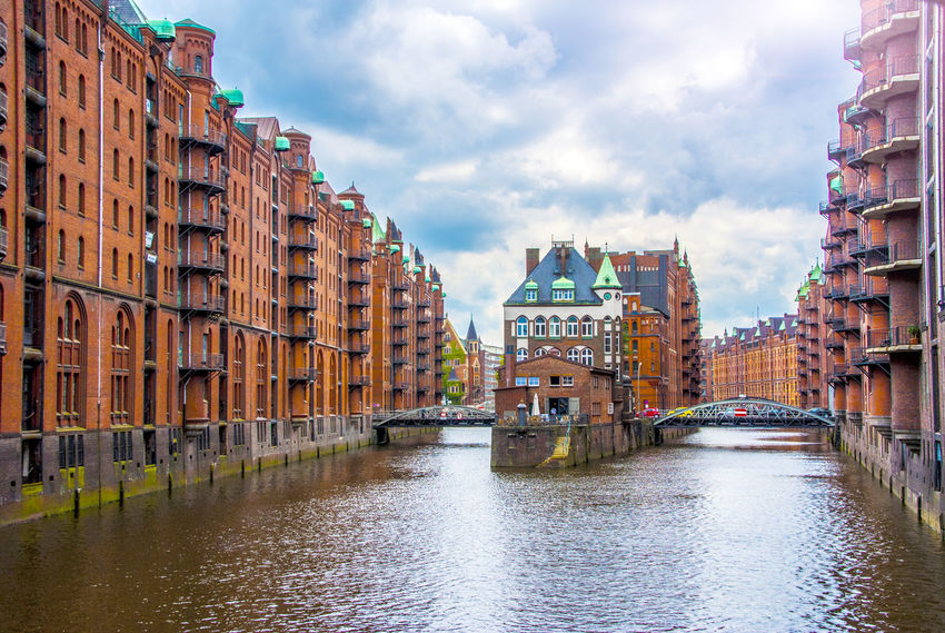 Photo of Water castle building in hamburg hafen city germany Castle Architecture Building Exterior Built Structure City Cloud - Sky Day No People Outdoors Sky Travel Destinations Water Waterfront