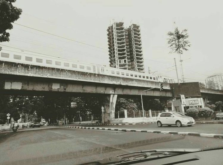 Car Transportation Architecture Bridge - Man Made Structure Land Vehicle Business Finance And Industry Built Structure Road Outdoors Day No People Street Hanging Out Cool_capture_ Photooftheday Taking Photos Xiaomiphotography INDONESIA City Building Exterior Architecture Station Train