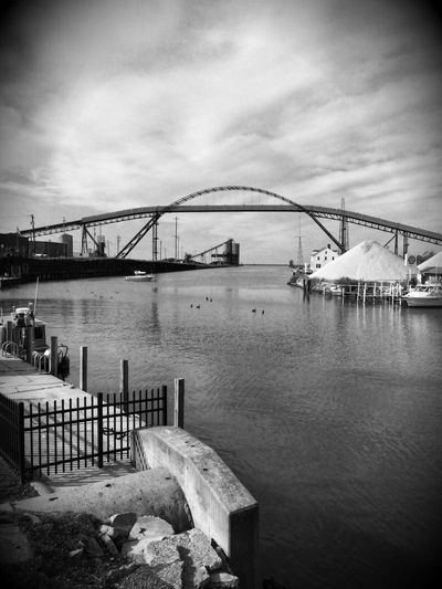 Ashtabula Harbor ... gateway to Lake Erie ✨😃 Blackandwhite Coal Docks Lake Erie Tadaa Community Bridge - Man Made Structure Connection Engineering Built Structure Architecture Sky Water Travel Destinations Outdoors