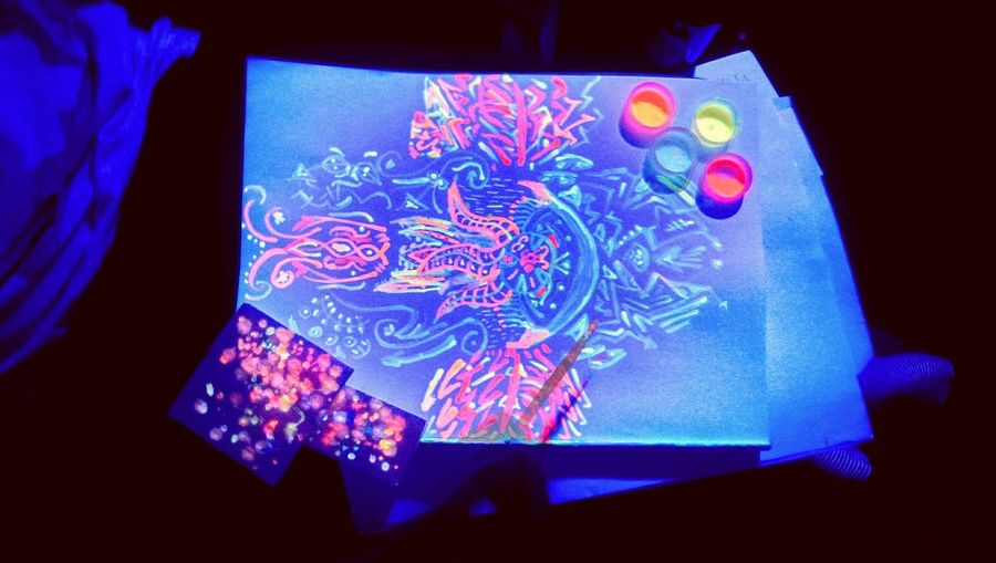 Trippin' Neon Color Painting Fantasy