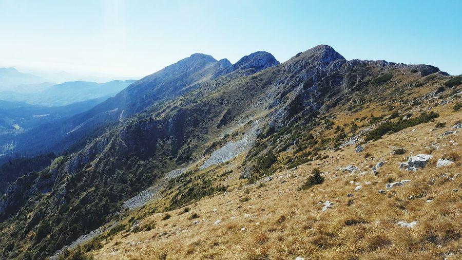 mountain peak 2,238 metres Romania Brasov Altitude Fresh Air... High Angle View EyeEm Selects Mountain Tree Forest Sky Mountain Range Landscape Mountain Peak Rocky Mountains Hiker