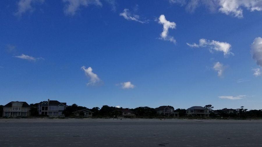 Clouds And Sky Clouds Cloud Shapes  Backgrounds Hilton Head Island, SC Blue Beach Sky
