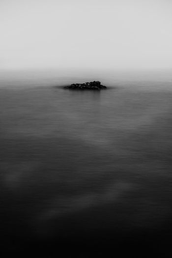 Lonely Beauty In Nature Black Blackandwhite Day Fog Horizon Horizon Over Water Idyllic Land Long Exposure Nature No People Outdoors Remote Scenics - Nature Sea Sky Solitude Tranquil Scene Tranquility Water Waterfront