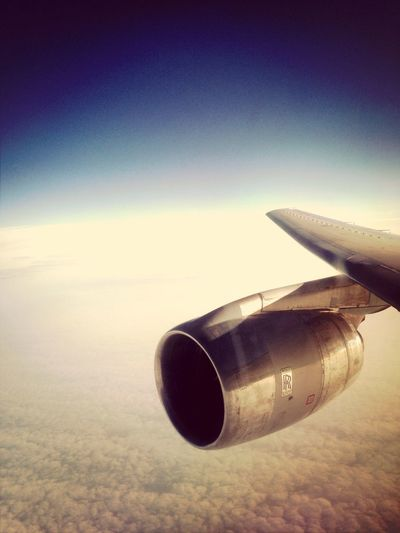 From An Airplane Window Above The Clouds Raf Tristar