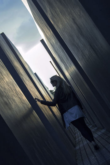 Adult Adults Only Berlin Cloud - Sky Day Holocaust Memorial Memorial Ominous One Person Outdoors People Sky
