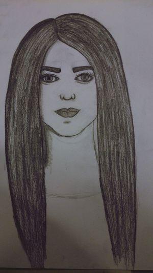 Drawing Girl рисунок карандаш