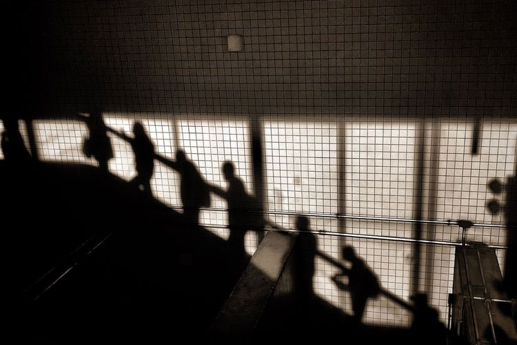 Shadow Silhouette Indoors  Focus On Shadow Real People Day Men People Illuminated Adults Only Adult