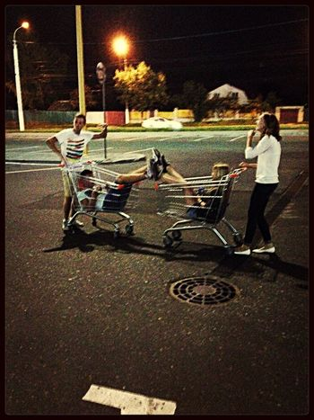 Perfect night ? Cart Racing Night Friends After Movies