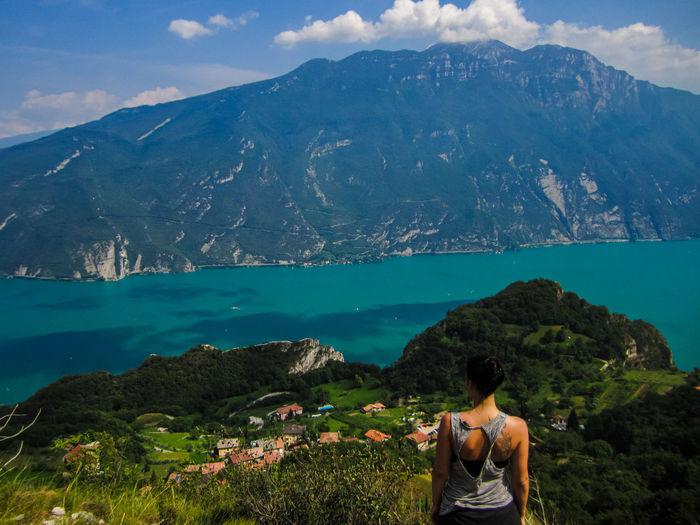 Beautiful view of the garda lake in italy